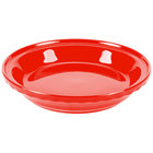 Homer Laughlin 487338 Fiesta Poppy 10 1/4 inch Deep Dish Pie Baker - 4/Case