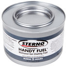 Sterno Products 20660 2 Hour Handy Fuel Methanol Gel Chafing Fuel   - 72/Case