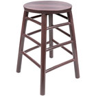Lancaster Table & Seating Spartan Series 24 inch Metal Woodgrain Counter Height Stool with Wine Color Finish