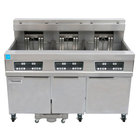 Frymaster 11814E/RE17/11814E 170 lb. High Production Electric Floor Fryer with Digital Controls - 208V, 3 Phase, 17 kW