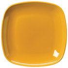 Homer Laughlin 13309518 Bosque Goldenrod 8 3/4 inch Square Plate - 12/Case