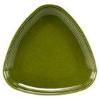 Homer Laughlin 13199391 Bosque Moss 8 3/4 inch Triangle Plate - 12/Case