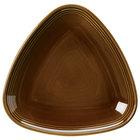 Homer Laughlin 13199392 Bosque Maple 8 3/4 inch Triangle Plate - 12/Case
