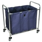 Luxor / H. Wilson HL15 7 Bushel 3-Compartment Industrial Laundry Cart with Dividers - 38 1/2