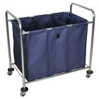 Luxor HL15 7 Bushel 3-Compartment Industrial Laundry Cart with Dividers - 38 1/2