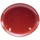Homer Laughlin 13249390 Bosque Chestnut 12 inch x 10 5/8 inch Oval Platter - 12/Case