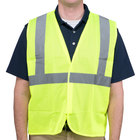 Lime Class 2 High Visibility Surveyor's Safety Vest with Hook & Loop Closure - Large