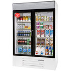 Beverage Air LV49-1-W-LED White LumaVue 52 inch Refrigerated Glass Door Merchandiser with LED Lighting- 49 Cu. Ft.