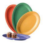 GET OP-612-MIX Creative Table 11 3/4 inch x 8 1/4 inch Oval Platter, Assorted Colors - 24 / Case