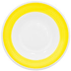 CAC R-120-Y Rainbow 26 oz. Yellow Rolled Edge Pasta Bowl - 12/Case
