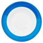 CAC R-120-BLU Rainbow 26 oz. Blue Rolled Edge Pasta Bowl - 12/Case