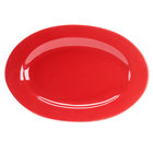 CAC FES-51-RD Festiware 15 inch X 10 1/2 inch Red Platter - 12/Case