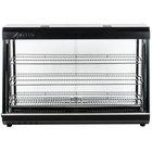 "Avantco HDC-48 48"" Self Service 3 Shelf Countertop Heated Display Warmer with Sliding Doors - 110V, 1500W"