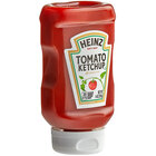 Heinz 14 oz. Upside Down Squeeze Bottle Ketchup - 16/Case