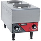 Nemco 6311-1-240 Electric Countertop Raised Vertical Hot Plate with 2 Solid Burners - 240V