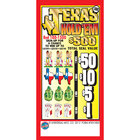 Texas Hold 'em 5 Window Pull Tab Tickets - 1800 Tickets Per Deal - Total Payout: $675