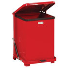 Rubbermaid FGQST7E The Silent Defenders Red Square Steel Quiet Step Can with Rigid Plastic Liner 7 Gallon (FGQST7EPLRD)