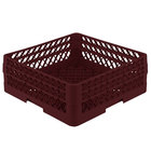 Vollrath TR1AA Traex® Full-Size Burgundy 7 1/4 inch Open Rack with 2 Extenders