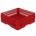 Vollrath TR1AA Traex® Full-Size Red 7 1/4 inch Open Rack with 2 Extenders
