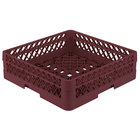 Vollrath TR1A Traex® Full-Size Burgundy 5 1/2 inch Open Rack with 1 Extender