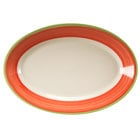 Homer Laughlin 1538083 Toulon 9 1/2 inch Rolled Edge Oval Platter - 24/Case