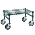 Regency 18 inch x 24 inch x 14 inch Green Epoxy Coated Mobile Dunnage Rack Kit with Tubular Frame - 600 lb. Capacity