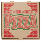 12 inch x 12 inch x 1 3/4 inch Kraft Corrugated Pizza Box   - 50/Case