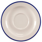 Homer Laughlin 6556031 Pristine with Kerry Cobalt Blue Rim 5 3/4 inch Round China Saucer - 36/Case