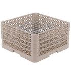 Vollrath PM2209-3 Traex Beige 22 Compartment Plate Rack - 7