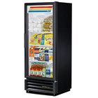 True GDM-12-LD Black Glass Door Refrigerated Merchandiser with LED Lighting and Left Door Hinge; 12 Cu. Ft.