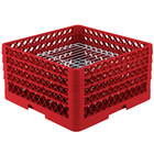 Vollrath PM3208-4 Traex® Plate Crate Red 32 Compartment Plate Rack - Holds 7 5/8 inch to 8 inch Plates