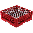 Vollrath PM3807-2 Traex® Plate Crate Red 38 Compartment Plate Rack - Holds 5 inch to 6 1/8 inch Plates