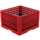 Vollrath PM2011-5 Traex® Plate Crate Red 20 Compartment Plate Rack - Holds 10 inch to 10 3/4 inch Plates