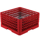 Vollrath PM2209-3 Traex® Plate Crate Red 22 Compartment Plate Rack - Holds 7 inch to 7 7/8 inch Plates