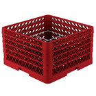 Vollrath PM1211-5 Traex® Plate Crate Red 12 Compartment Plate Rack - Holds 9 3/16 inch to 10 3/4 inch Plates