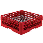 Vollrath PM3208-2 Traex® Plate Crate Red 32 Compartment Plate Rack - Holds 4 3/4 inch to 6 1/4 inch Plates