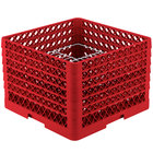 Vollrath PM2011-6 Traex® Plate Crate Red 20 Compartment Plate Rack - Holds 10 3/4 inch to 11 inch Plates