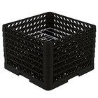Vollrath PM0912-6 Traex Black 9 Compartment Plate Rack - 11 1/4