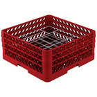 Vollrath PM2006-3 Traex® Plate Crate Red 20 Compartment Plate Rack - Holds 4 3/4 inch to 6 1/2 inch Plates