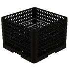 Vollrath PM1412-6 Traex® Plate Crate Black 14 Compartment Plate Rack - Holds 10 3/4 inch to 12 5/16 inch Plates