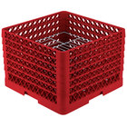 Vollrath PM1912-6 Traex® Plate Crate Red 19 Compartment Plate Rack - Holds 11 inch to 12 inch Plates