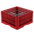 Vollrath PM2110-4 Traex® Plate Crate Red 21 Compartment Plate Rack - Holds 8 3/4 inch to 9 3/16 inch Plates