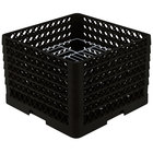 Vollrath PM1912-6 Traex® Plate Crate Black 19 Compartment Plate Rack - Holds 11 inch to 12 inch Plates
