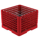 Vollrath PM0912-6 Traex® Plate Crate Red 9 Compartment Plate Rack - Holds 11 1/4 inch to 12 1/2 inch Plates