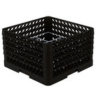Vollrath PM1211-5 Traex® Plate Crate 1Black 12 Compartment Plate Rack - Holds 9 3/16 inch to 10 3/4 inch Plates