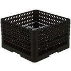 Vollrath PM2011-5 Traex® Plate Crate Black 20 Compartment Plate Rack - Holds 10 inch to 10 3/4 inch Plates