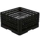 Vollrath PM2209-4 Traex® Plate Crate Black 22 Compartment Plate Rack - Holds 7 inch to 8 3/4 inch Plates