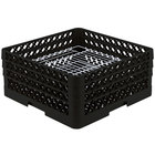 Vollrath PM4407-3 Traex® Plate Crate Black 44 Compartment Plate Rack - Holds 6 inch to 7 inch Plates