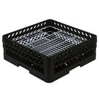 Vollrath PM4806-2 Traex® Plate Crate Black 48 Compartment Plate Rack - Holds 5 inch to 6 inch Plates
