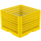 Vollrath PM2011-6 Traex® Plate Crate Yellow 20 Compartment Plate Rack - Holds 10 3/4 inch to 11 inch Plates